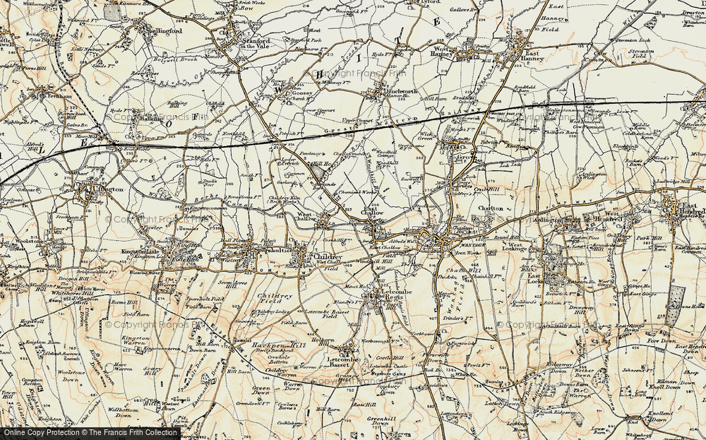 Old Map of East Challow, 1897-1899 in 1897-1899