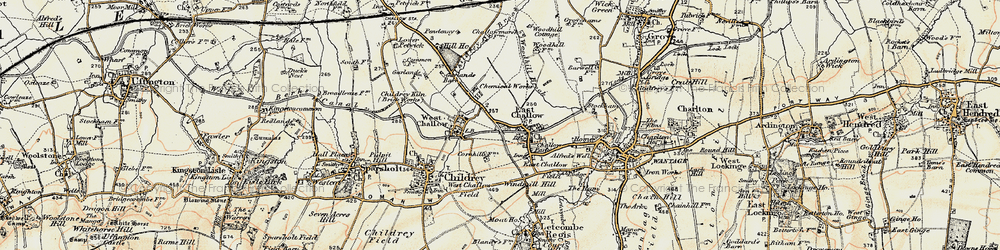Old map of Windmill Hill in 1897-1899