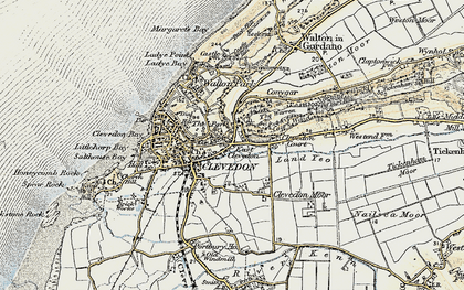 Old map of East Clevedon in 1899