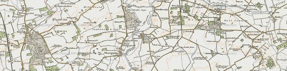 Old map of Wheldrake Ings in 1903