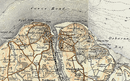 Old map of East Cowes in 1897-1899