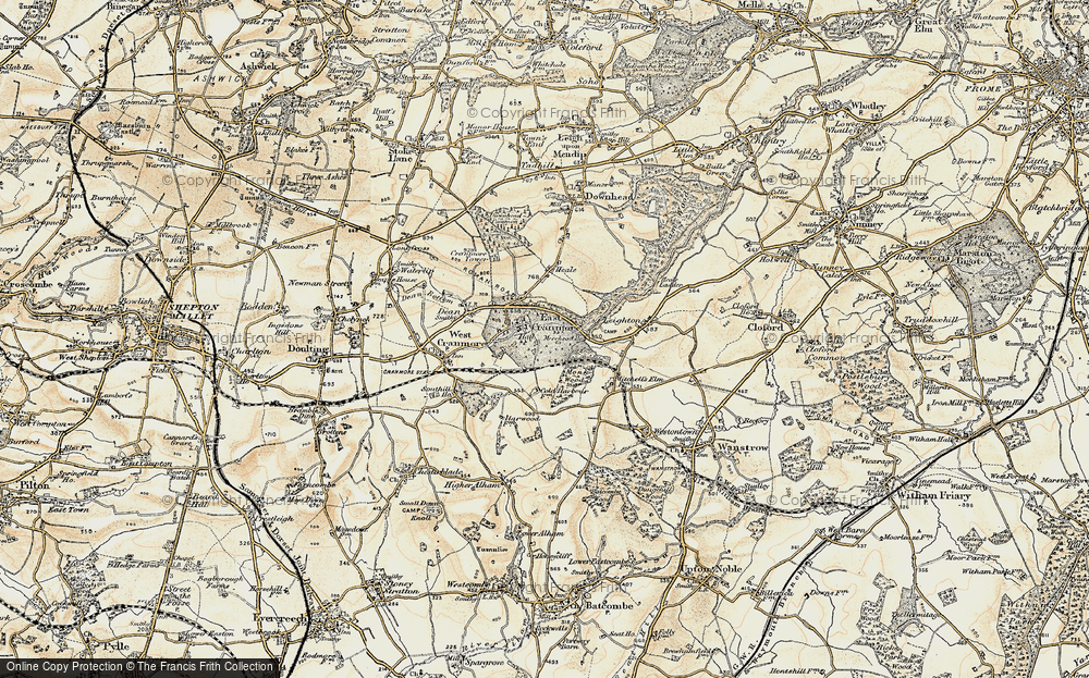 Old Map of East Cranmore, 1899 in 1899