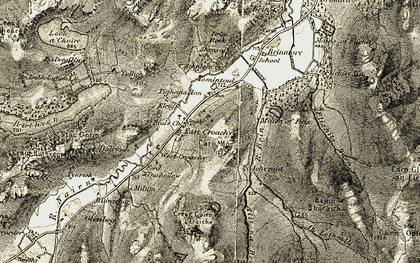 Old map of Allt na Beinne in 1908-1912