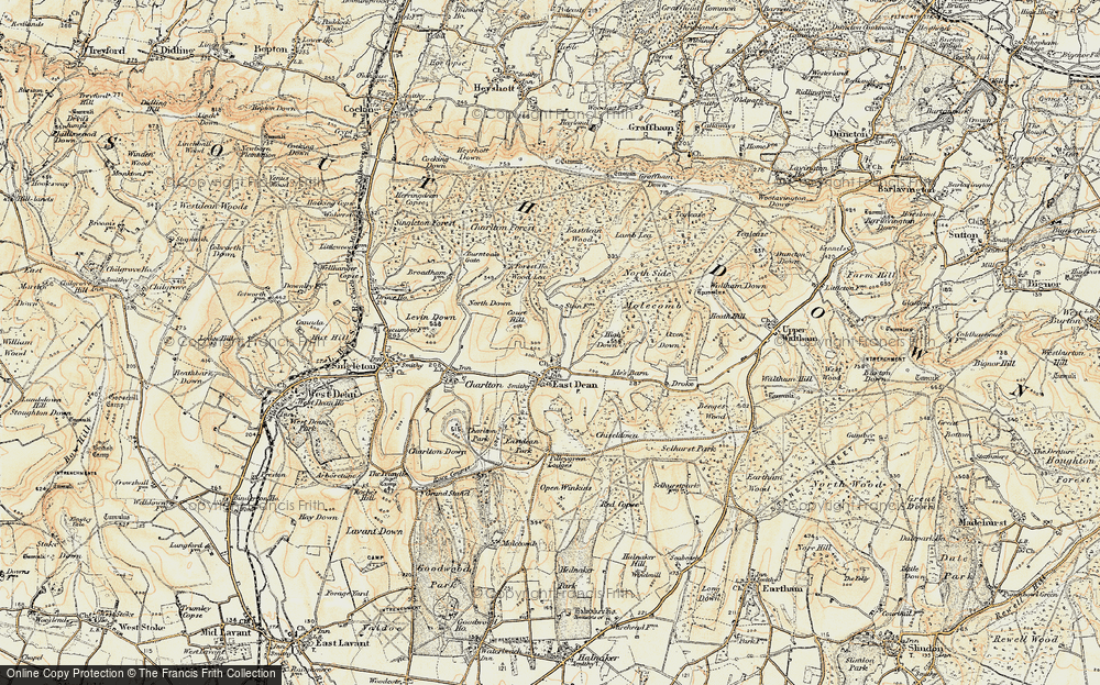 Old Map of Historic Map covering Wood Lea in 1897-1899