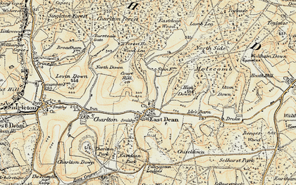 Old map of Wood Lea in 1897-1899