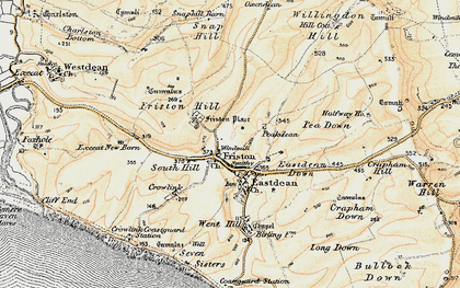 Old map of East Dean in 1898