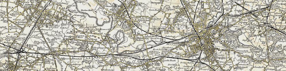 Old map of Abney Hall in 1903