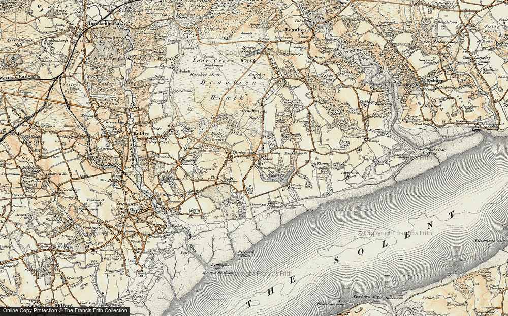 Old Map of Historic Map covering Colgrims in 1897-1909
