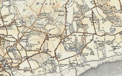Old map of Colgrims in 1897-1909