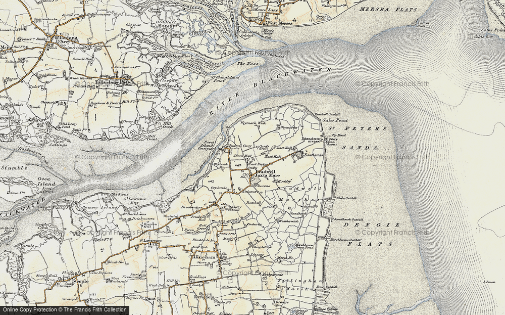 Old Map of Historic Map covering Tip Head in 1898