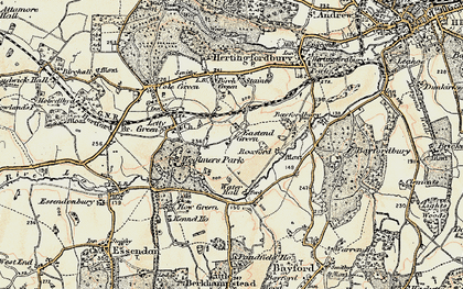 Old map of East End Green in 1898