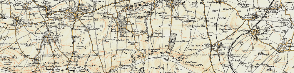 Old map of Ardington Down in 1897-1899