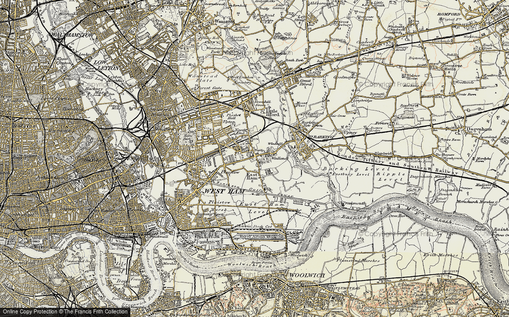 Old Map of East Ham, 1897-1902 in 1897-1902