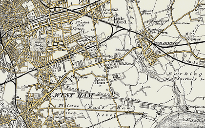 Old map of East Ham in 1897-1902
