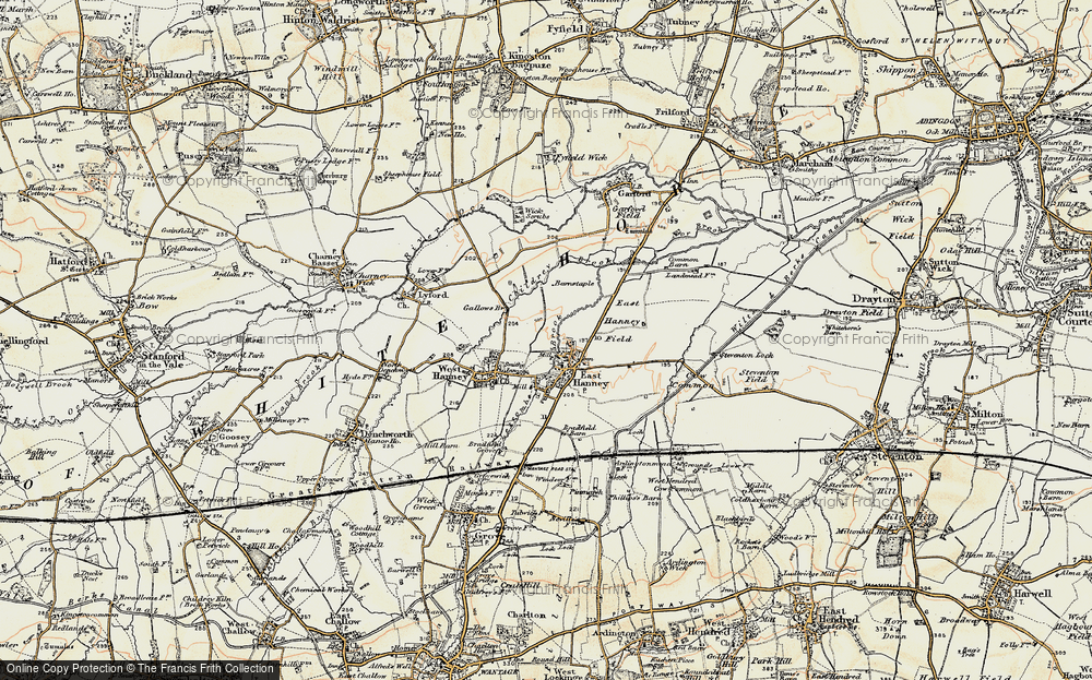 Old Map of Historic Map covering Letcombe Brook in 1897-1899