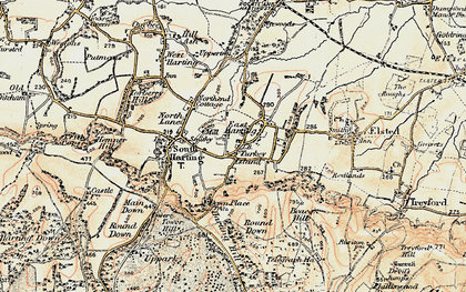 Old map of East Harting in 1897-1900