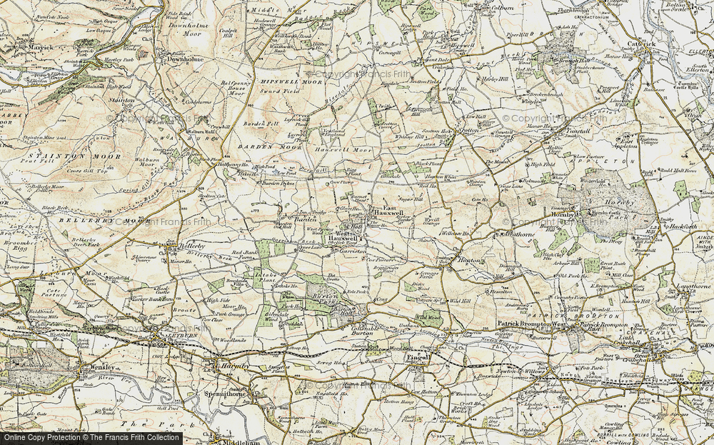 Old Map of Historic Map covering Ayrlow Banks in 1904