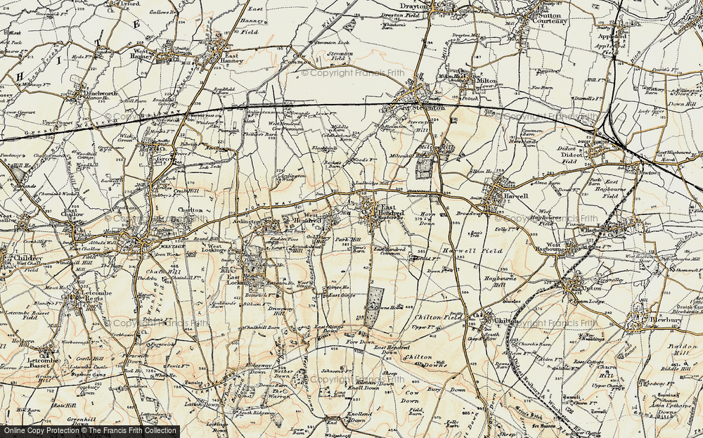 Old Map of Historic Map covering Aldfield Common in 1897-1899