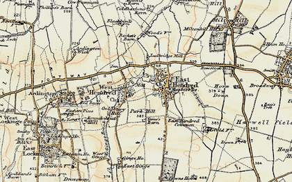 Old map of Aldfield Common in 1897-1899