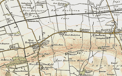 Old map of Westfield Wold in 1903-1904
