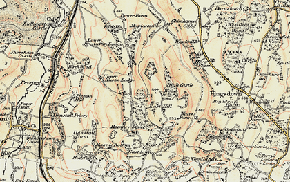 Old map of East Hill in 1897-1898