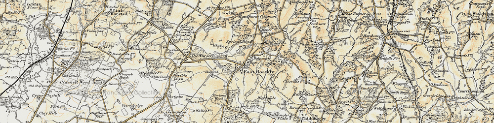 Old map of East Hoathly in 1898