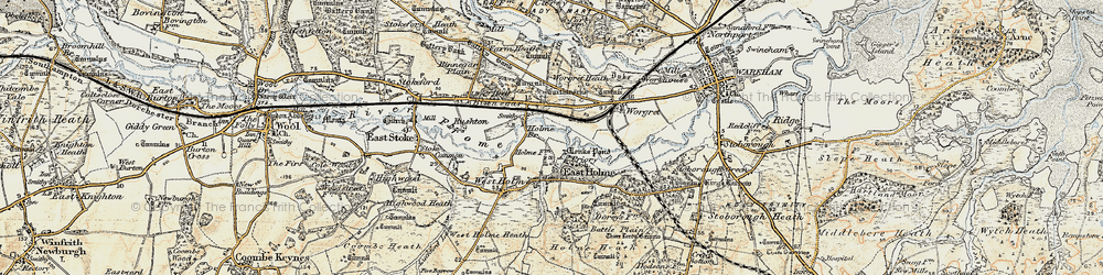 Old map of Worgret Heath in 1899-1909