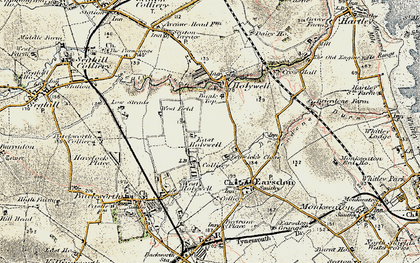 Old map of East Holywell in 1901-1903
