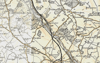 Old map of East Hyde in 1898-1899