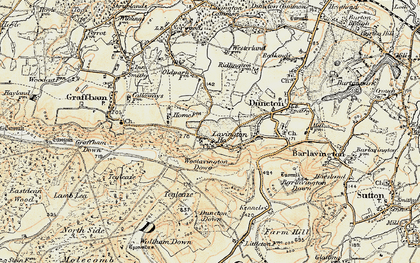 Old map of East Lavington in 1897-1900