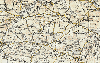 Old map of Leigh Cross in 1899-1900