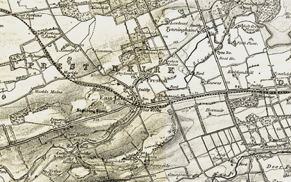 Old map of East Linton in 1901-1906