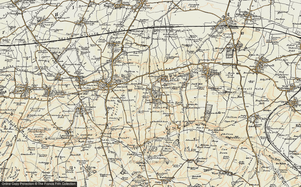 Old Map of Historic Map covering Arn Hill in 1897-1899