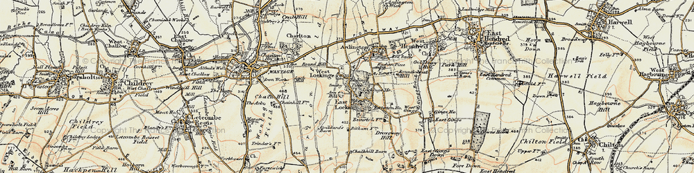 Old map of Lark Hill in 1897-1899