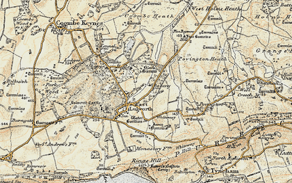 Old map of East Lulworth in 1899-1909
