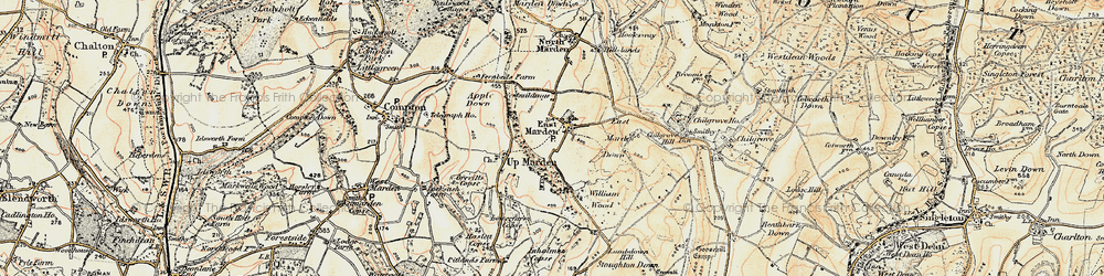 Old map of Wildhams Wood in 1897-1900