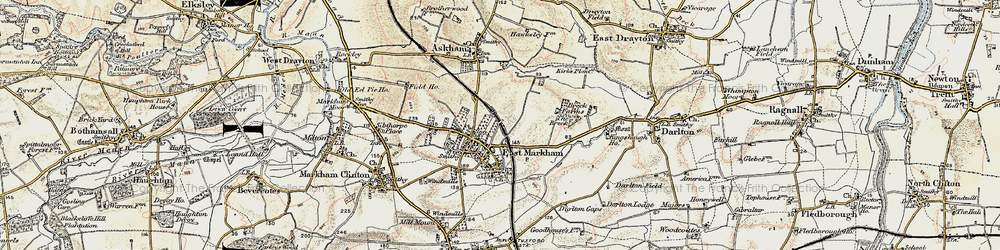 Old map of East Markham in 1902-1903