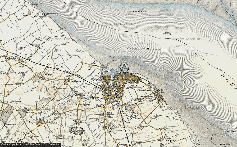 Old Map of East Marsh, 1903-1908 in 1903-1908