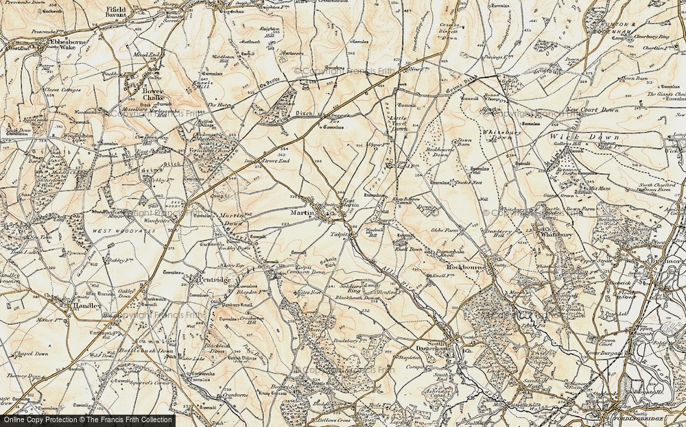 Old Map of Historic Map covering Allen River in 1897-1909