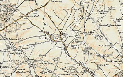 Old map of Windmill Hill in 1897-1909