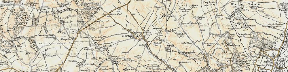 Old map of Allen River in 1897-1909