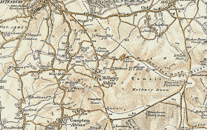Old map of Zig-Zag Hill in 1897-1909