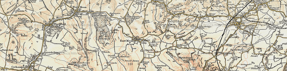 Old map of East Meon in 1897-1900