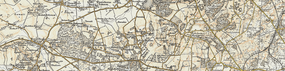 Old map of Whitmore Bottom in 1897-1909