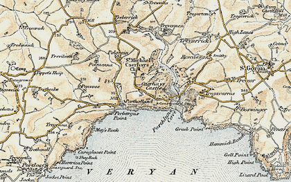 Old map of East Portholland in 1900