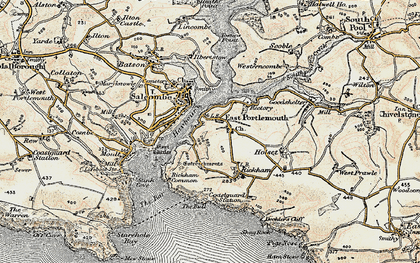 Old map of West Prawle in 1899