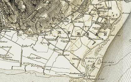 Old map of West Preston in 1901-1905
