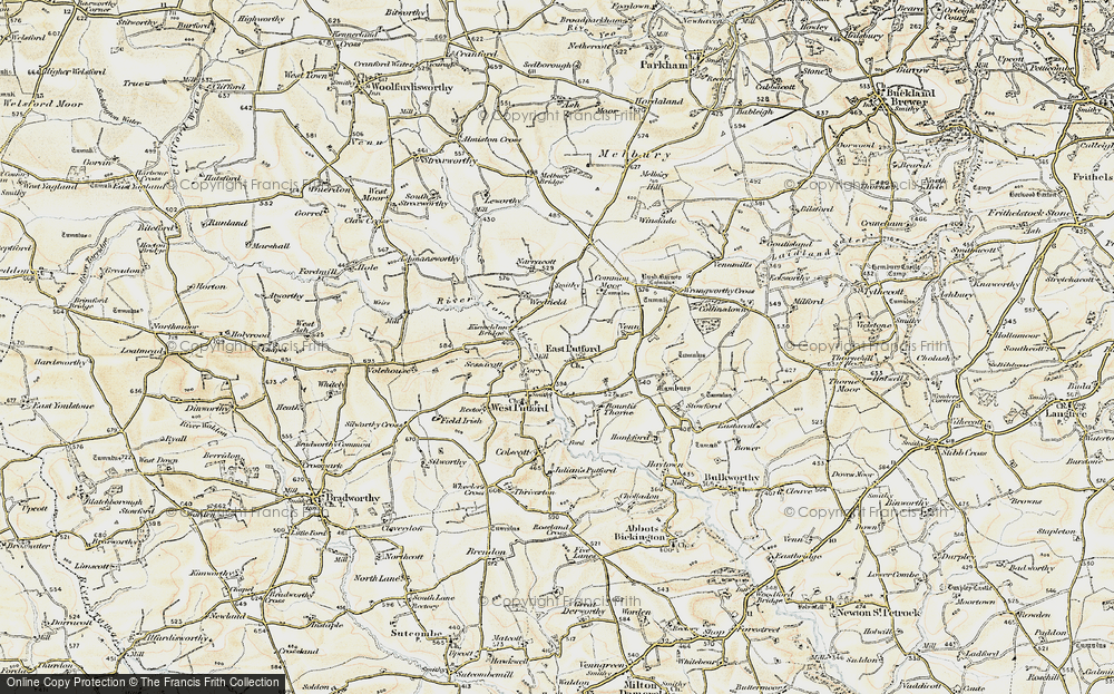 Old Map of East Putford, 1900 in 1900