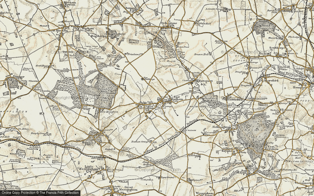 Old Map of East Rudham, 1901-1902 in 1901-1902