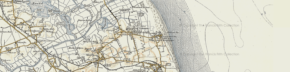 Old map of Winterton Ness in 1901-1902